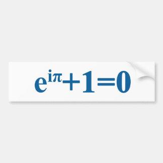 Eular math equation bumper sticker