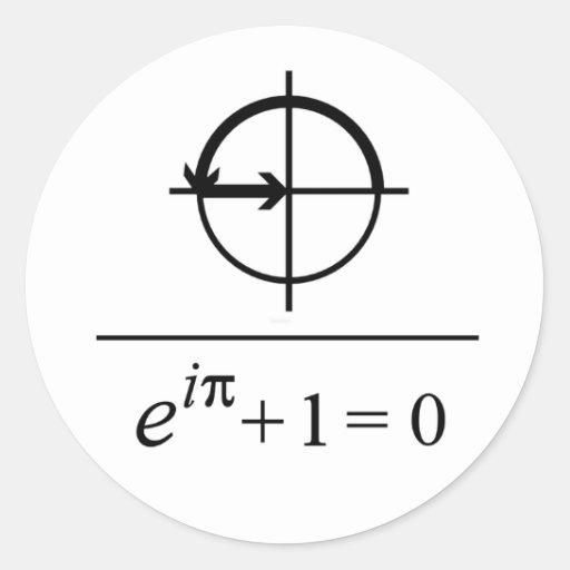 Euler's Identity Round Stickers