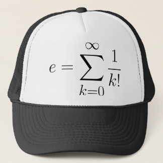 Euler's number series trucker hat