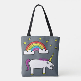 Eunice the Unicorn - All-Over-Print Tote Slate