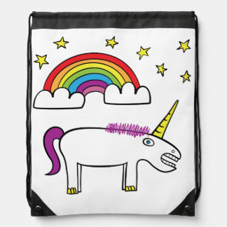 Eunice the Unicorn Drawstring Backpack