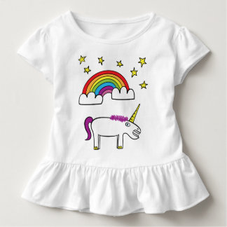 Eunice the Unicorn - Toddler Ruffle Tee
