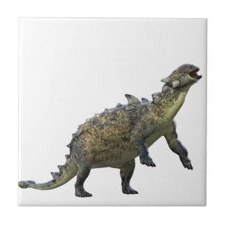 Euoplocephalus Standing and Roaring Small Square Tile
