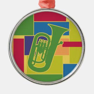 Euphonium Colorblocks Ornament