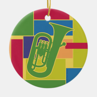 Euphonium Colorblocks Ornament