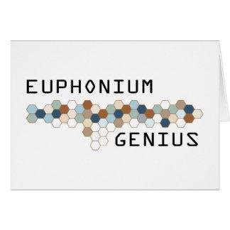 Euphonium Genius Greeting Card