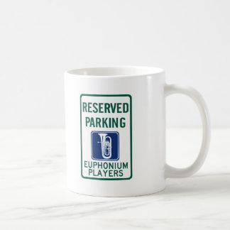 Euphonium Players Parking Classic White Coffee Mug
