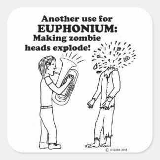 Euphonium Zombie Explode Stickers