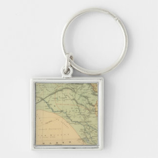 Euphrates Valley, Syria Silver-Colored Square Key Ring