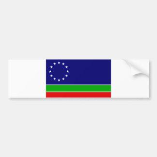 eurasia flag europe asia continent symbol bumper sticker