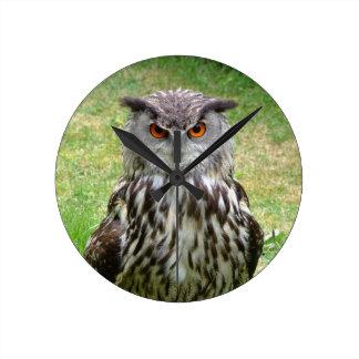 Eurasian Eagle Owl Round Clock