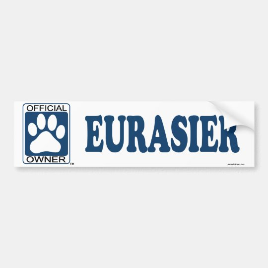 Eurasier Blue Bumper Sticker