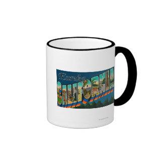 Eureka, California - Large Letter Scenes Ringer Mug
