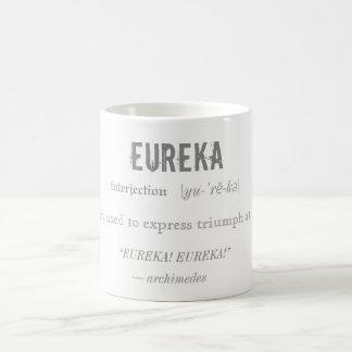 Eureka Definition Archimedes Principle Science Coffee Mug