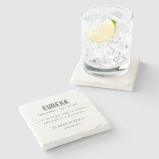Eureka Definition Archimedes Principle Science Stone Coaster