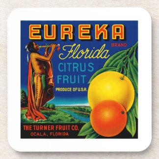 Eureka Florida Citrus Beverage Coaster