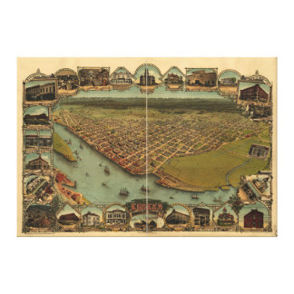 Eureka, Humboldt County, California (1902) Canvas Print