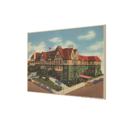 Eureka Inn Hotel View in Eureka, California Gallery Wrapped Canvas