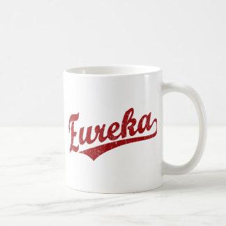 Eureka script logo in red basic white mug