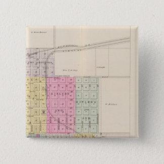 Eureka, Severy, and Piedmont, Kansas 15 Cm Square Badge