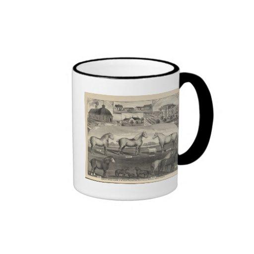 Eureka Stock Farm, Scottsville, Kansas Coffee Mugs