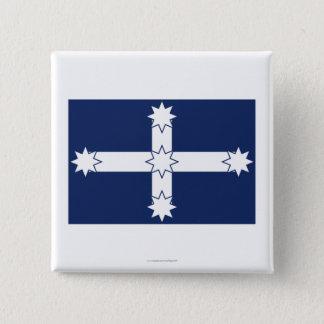 Eureka Stockade Flag 15 Cm Square Badge