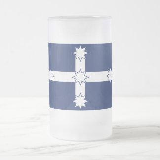 Eureka Stockade Flag Frosted Glass Mug