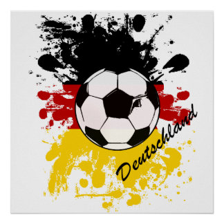 Euro 2012 - European Cup Germany flag football Poster