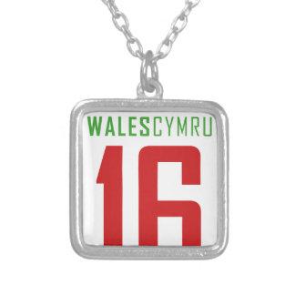 Euro 2016  WALES Square Pendant Necklace