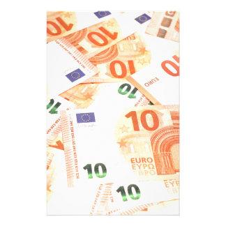 Euro background stationery