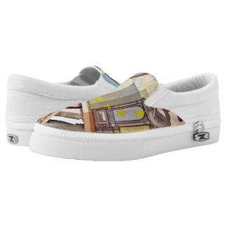 Euro Banknote Slip-on. Slip On Shoes