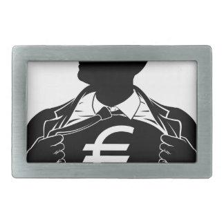 Euro Business Man Superhero Tearing Shirt Chest Belt Buckle
