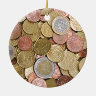 Euro Cents Christmas Ornament