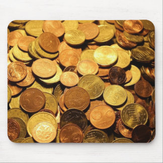Euro Coin Positive Money Manifestation Mouse Pad