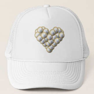 Euro Coins - heart pattern - hat