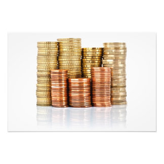 euro coins photographic print