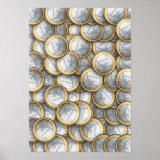 Euro Coins Print