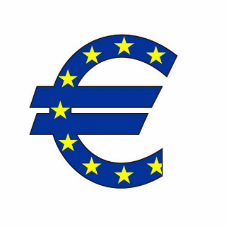 euro currency symbol money sign photo sculptures