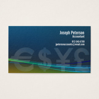 Euro Dollar Yen Pound Currency Business Card