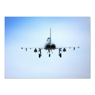 Euro Fighter heat 11 Cm X 16 Cm Invitation Card