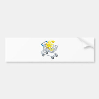 Euro money trolley concept bumper stickers