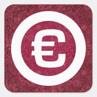 Euro Pouches Icon Square Sticker