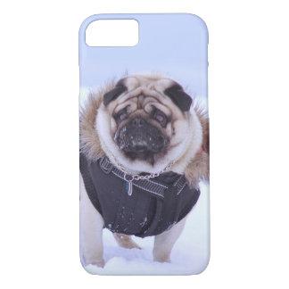 Euro Pug Blue Snow iPhone 7 case