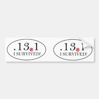 Euro Style Half Marathon Spoof Bumper Sticker