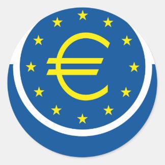 Euro symbolism - European Legacy Round Sticker