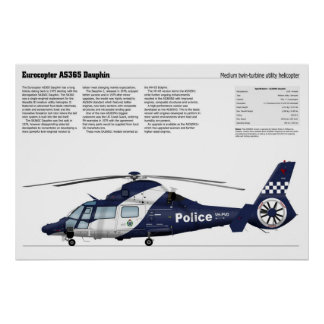 Eurocopter AS365 Dauphin Poster