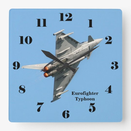Eurofighter Typhoon blue sky all numbers Square Wall