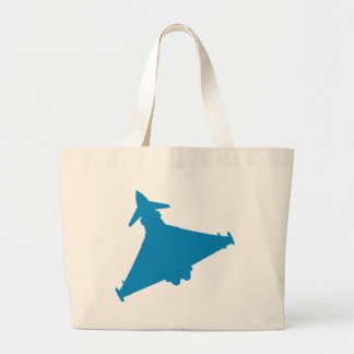 Eurofighter Typhoon Fighter Jet Large Tote Bag