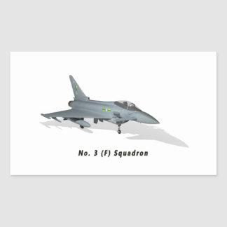 Eurofighter Typhoon No. 3 Sqn Rectangular Sticker