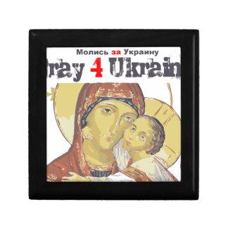 Euromaidan Pray Ukraine Freedom support Small Square Gift Box